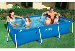 Intex 9.8ft x 29.5in Rectangular Frame Above Ground Swimming Pool SHIPS ASAP