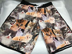 Bioworld Men's Board Shorts Cats Everywhere Mens Size Small Swimming Trunks