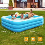 120quot;x 72quot; Above Ground Family Swimming Pool Inflatable Water Fun Pool for 8 Kids