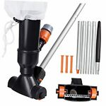 Portable Swimming Pool Jet Vacuum Cleaner Underwater with 5 Section Pole and