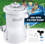 Evoio Pool Filter Pump Above Ground 300 Gallons Swimming Filter...