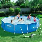 💦Bestway Steel Pro Above Ground Pool with 330 GPH Filter Pump 12'x30