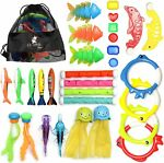 Diving Toys 30 Pack Swimming Pool Toys for Kids Includes 4 Diving Sticks 4
