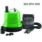 660GPH 40W Submersible Pump with Bottom Suction Strainer for Aquarium Small Pool