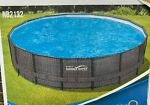 Summer Waves Elite Frame Wicker 18ft x 52in Above Ground Pool Filter Pump New