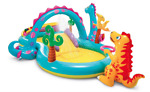 Intex Inflatable Kids Swimming Pool Dinoland Play Center with Water Slide