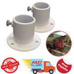 Aluminum Deck Flanges for Above Ground Pool Ladder (2-Piece) Rugged cast aluminu
