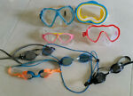 Lot of 8 Used Swimming Goggles MENS WOMENS KIDS