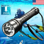 400000LM 5*T6 LED Diving Torch UnderWater 220m Depth Waterproof Swimming Light