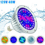 40W RGBW LED Color Changing Underwater Swimming Inground Pool Light Bulb NEW