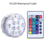 10 Led Submersible Light Remote Control RGB 16 Colors Swimming Underwater L MN