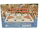 Best Pool Party Barge Floating 10 Cup Beer Pong Pong w Built in Cooler 6 Feet