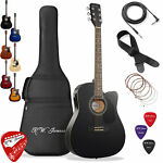 Thinline Cutaway Acoustic Electric Guitar with Gig Bag Right Handed