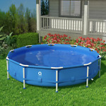 12 ft. Round 30 in. Outdoor Above Ground Swimming Metal Frame Pool