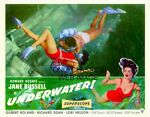 SEXY JANE RUSSELL SWIMMING quot;UNDERWATERquot; MOVIE ART 11X14 POSTER PINUP CHEESECAKE