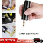 Portable Mini Small Electric Drills Handheld Micro USB Drill with 3pc Bits DC 5V