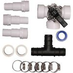 Pool Solar Heater Bypass Kit Above Ground Swimming Pools Parts Clamps Set