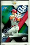 Mike Trout 2020 Topps Chrome Wins Above RePlacement Green ReFractor SP D # 44 99