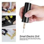 Portable Mini Small Electric Drills Handheld Micro USB Drill with 3x Bits DC 5V