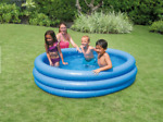 INTEX Crystal Blue Kids Round Outdoor Inflatable 66quot; x 15quot; Swimming Pool New 💦