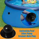 2X Swimming Pool Pump Strainer Hole Plug Water Stopper For Intex Ground Pools FS