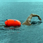 SAFER SWIMMER HEAVY DUTY SWIMMING SAFETY FLOAT BUOY AND DRY BAG ORANGE L