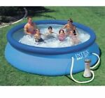Intex 12ft x30in Easy Set Up Inflatable Swimming Pool & Filter Pump SHIPS FAST‼️