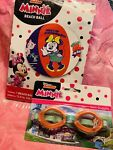 Lot of Minnie Mouse Swim Goggles amp; 13.5 inch Beach Ball Swimming Play Ages 3