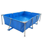 Above Ground Pool Rectangular Swimming Pool Set 102quot; x 67quot; x 24quot; Blue Outdoor