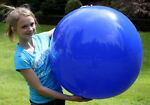36quot; DARK BLUE Inflatable Beach Ball Glossy Vinyl Fun POOL PARTY Decoration