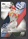 MIKE TROUT 2020 TOPPS WINS ABOVE REPLACEMENT #DOD 9 LOS ANGELES ANGELS DIE CUT