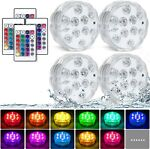 4x 16Colors Underwater Swimming Pool Light RGB LED for Pond Party Garden Hot Tub