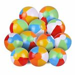 SYZ 12quot; Beach Balls Bulk Inflatable Swimming Pool Toys for Kids Birthday Pa...