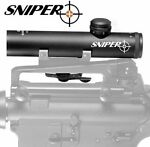 SNIPER 4x20 Grunt Compact Rifle Scope 4x20mm Duplex Reticle w See through Mount
