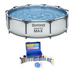 Bestway 10ft x 10ft x 25ft Steel Pro Round Family Swimming Pool