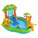 Intex Jungle Inflatable Swimming Pool Play Center Slide Sprayer Kid 2+ 7FT X6X4