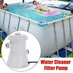 110V Electric Swimming Pool Cartridge Filter Pump For Above Ground Pools Clean