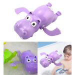 Clockwork Wind Up Hippo Swimming Play in Water Pool Bath Toys Party Favors