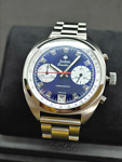 Zodiac Grandrally Chronograph Blue Stainless Steel Men#x27;s Watch ZO9601 TWO LEFT