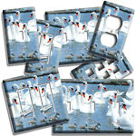 SWAN FLOCK BABY CHICKS POND SWIMMING LIGHT SWITCH OUTLET WALL PLATES ROOM DECOR
