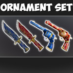 *CHEAP* Roblox Mm2 Ornament Set Common Knifes *FAST DELIVERY*