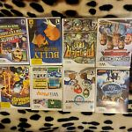 wii games lot includes Mario Kart and other fun games