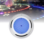 LED Underwater Swimming Pool Light Stainess Resin Filled RGB Color Changing Lamp