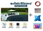 Buffalo Blizzard Above Ground Swimming Pool Round Winter Covers w Package Kit