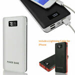 30000000mah Portable Power Bank LCD LED 4 USB Battery Charger For Mobile Phone