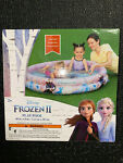 Disney Frozen 2 Kids Swimming Play Pool 2 Ring 48in X 8in Ready To Ship