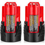 For Milwaukee M12 12 Volt XC 3.0 Extended Capacity Battery 48 11 2420 2401 3.0AH