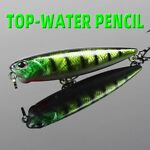 Artificial Pencil Fishing Wobbler Lure Swimming Winter Top water Surface Stream