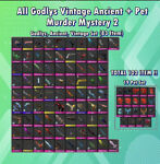MM2 Every Godly Vintage And Ancient 102 Items Super Cheap Small Set