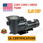 New 1HP110V InGround Swimming Pool Portable Pump Motor Above Ground For Hayward